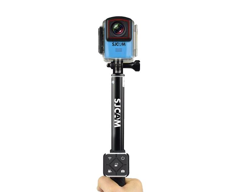 Perche et Télécommande Bluetooth pour SJ Cam M20 avec caméra fixée