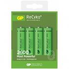 Piles alcalines rechargeables GP Recyko AA
