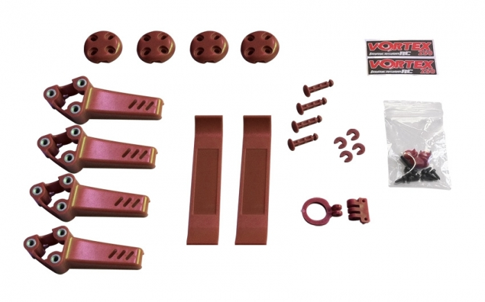 Pimp kit pour Vortex Pro 250 ImmersionRC Rouge