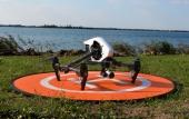 Piste de décollage pour drones avec DJI Inspire