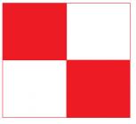 Plaque Photogrammétrique 400x400 - Rouge et blanc