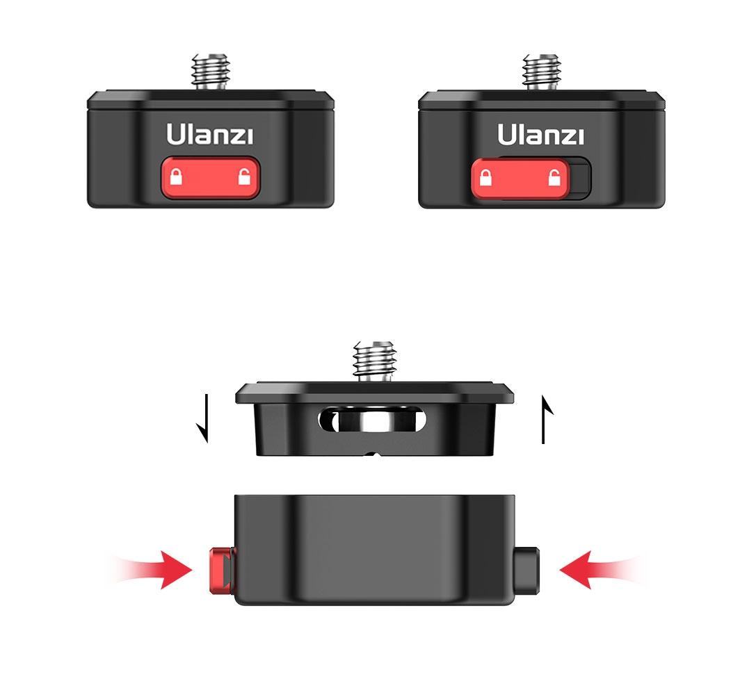 """Platine 1/4\"""" avec système \""""quick release\"""" - Ulanzi"""