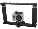 Platine multi-fixations double poignée pour GoPro