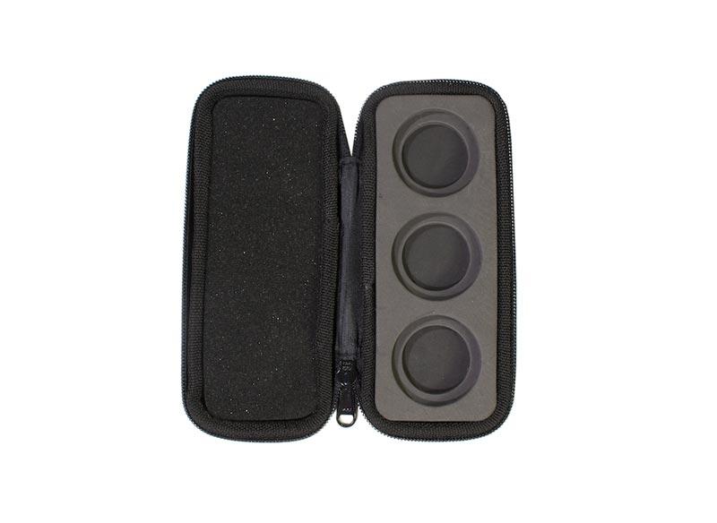 Housse de rangement pour 3 filtres Polar Pro ouverte