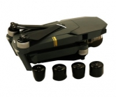 Protections silicone pour moteurs DJI Mavic avec le drone en arrière-plan
