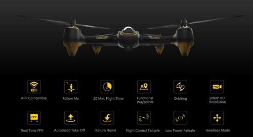 Quadricoptère Hubsan X4 H501A avec caractéristiques détaillés