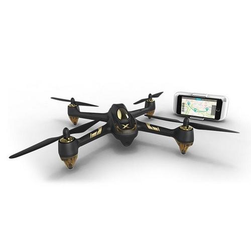 Quadricoptère Hubsan X4 H501A de face avec smartphone