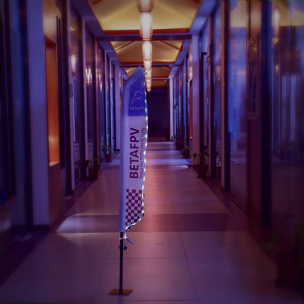 Race Flag BetaFPV vue avec les leds de nuit