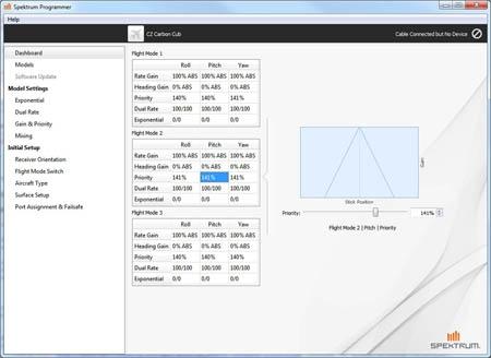 Cette radiocommande DXe se met à jour via un logiciel disponible en téléchargement sur le site de Spektrum.