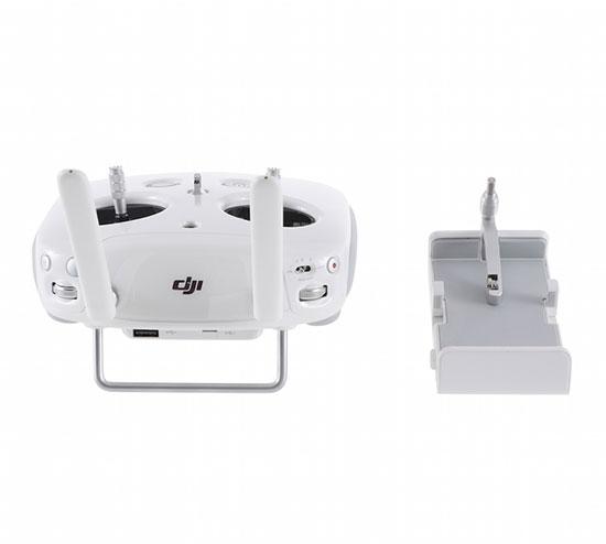 Radiocommande DJI 2.4GHz pour Phantom 4 avec support smartphone et tablette - vue de dos
