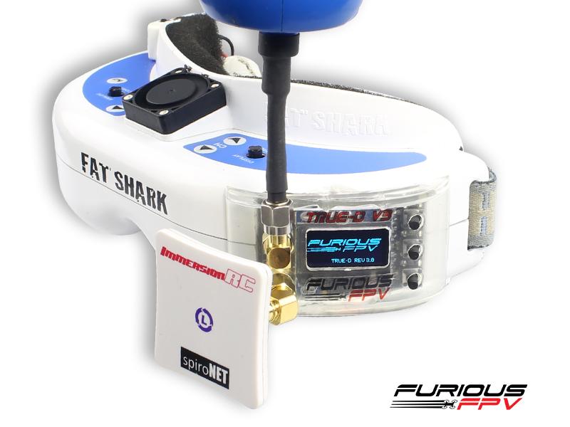 Récepteur diversifié Furious True-D V3 monté sur Fatshark