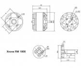Roulements pour Xnova RM 1806 détails techniques