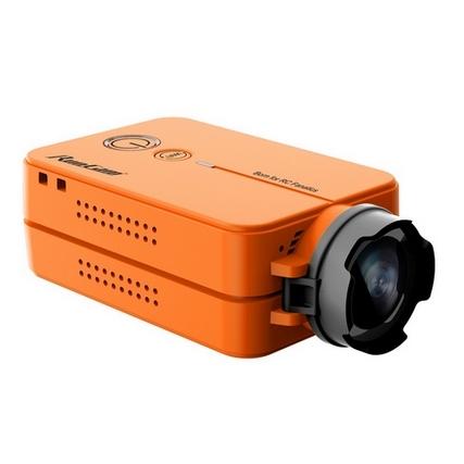 Caméra RunCam 2 HD 1080p orange vue de biais