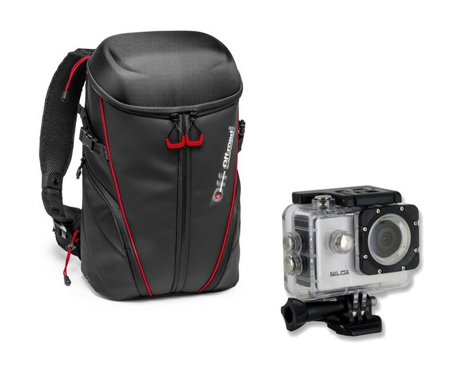 Sac à dos Manfrotto Offroad Stunt & caméra Nilox Mini Up