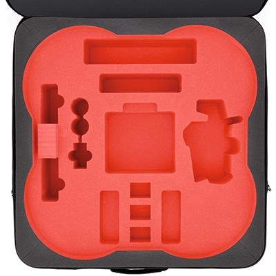La mousse haute densité est gage de qualité et de sécurité pour tous vos éléments : drone, radiocommande, batteries et accessoires.