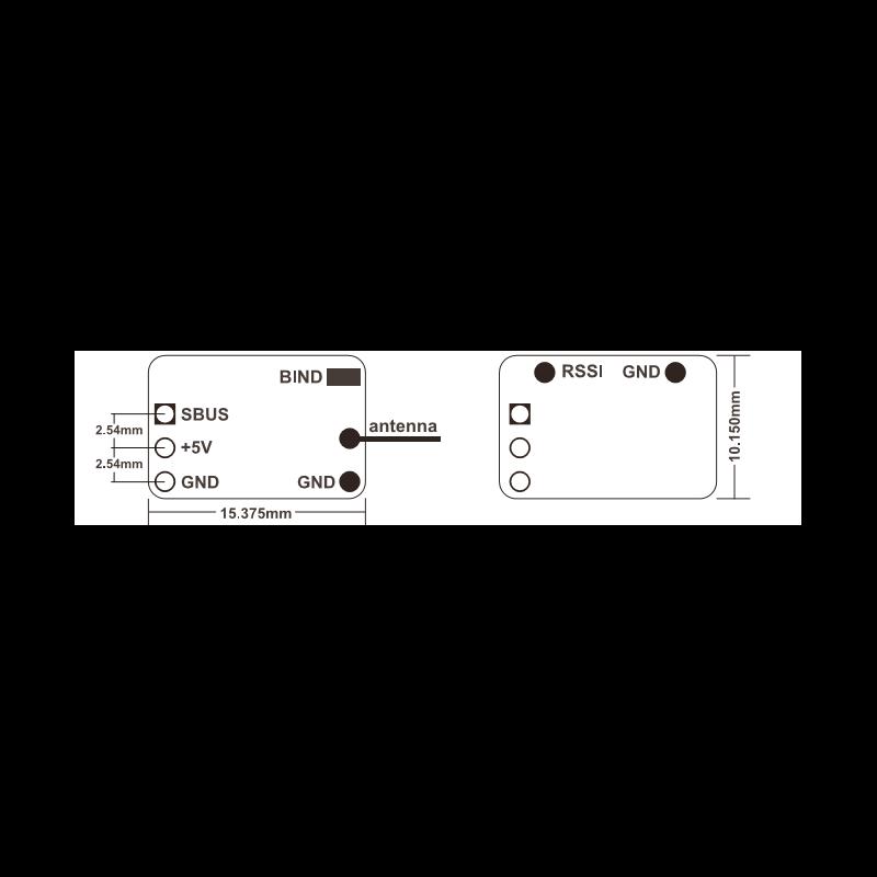 Schéma du récepteur Frsky XM