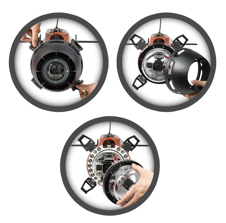 Schéma du montage du hublot du Seawolf Ocean Master - TTRobotics
