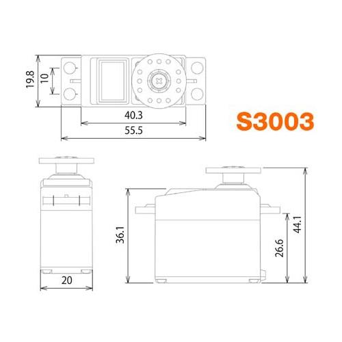 Servo Futaba S3003