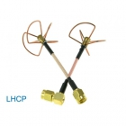 Set d'antennes Clover Leaf LHCP 5,8 GHz RP-SMA