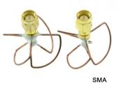 Set d'antennes cloverleaf courtes RHCP 5,8GHz - SMA