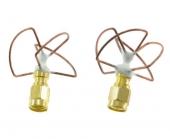Set d'antennes cloverleaf courtes RHCP 5,8GHz
