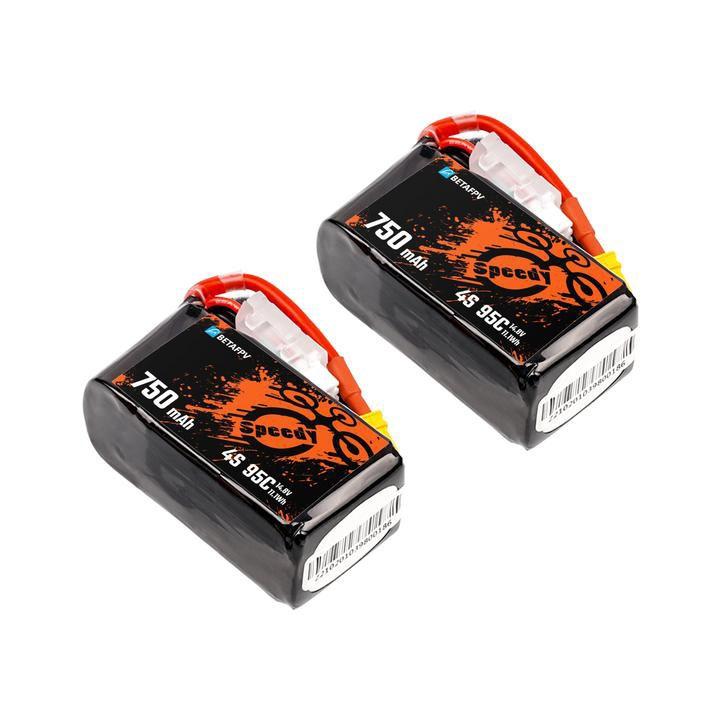 Set de 2 batteries LiPo 4S 750mAh 95C - BetaFPV