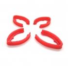 Set de 4 protections de bras pour le Minikeum rouge
