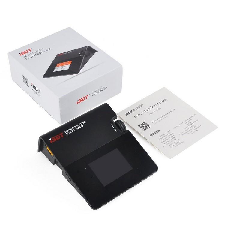 Smart Charger ISDT SC-620 avec boite de rangement et notice