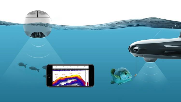 Sous-marin PowerRay Explorer en action avec le capteur sonar
