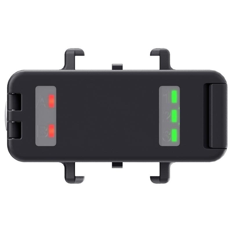 Témoins de charge des deux batteries GoPro Hero4 POV light 2.0