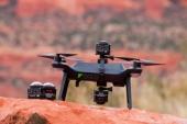 Photo d'un drone 3DR SOLO avec caméras SP360 4K fixées