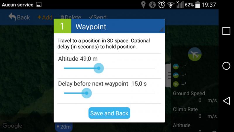 Une gestion simple depuis l'application iOS ou smartphone pour automatiser vos vols