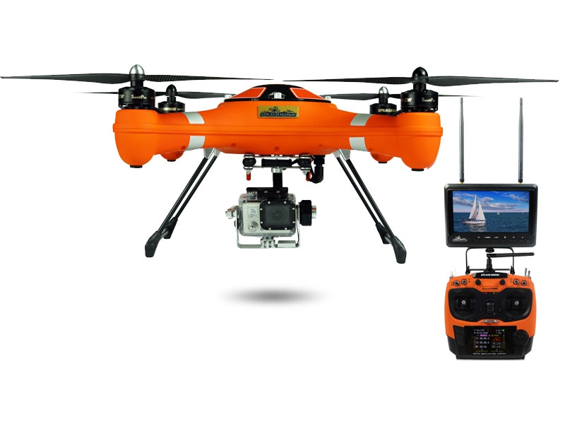 Splash Drone AUTO+ SwellPro avec radiocommande AT9 - couleur orange