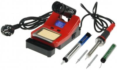 Station de soudage 160-520°C 58W avec pompe à dessouder, bobine d'étain et 2 pannes