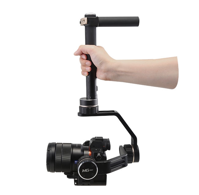 Steadycam Feiyu MG Lite avec appareil photo en action