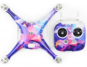 Stickers pour DJI Phantom 4 - Geometrical Purple