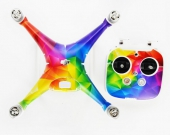 Stickers pour DJI Phantom 4 -Geometrical Rainbow