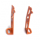 Support pour mini camera en alu Lambda (orange 7075)