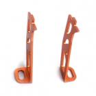 Support pour mini camera en alu Lambda (orange 7075)