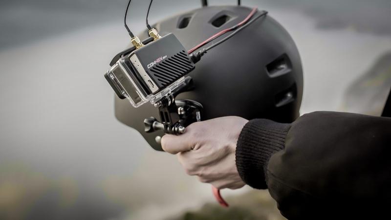 Système de transmission HD Amimon Connex Fusion au dos d'une GoPro