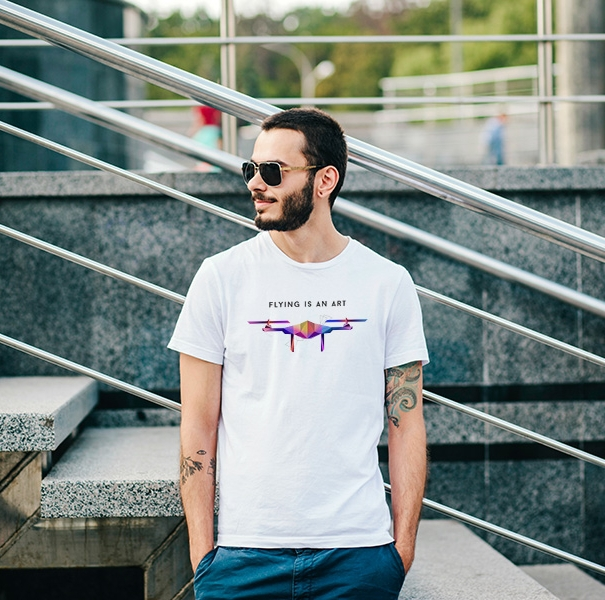 """Tee-shirt \""""Flying is an art\"""""""