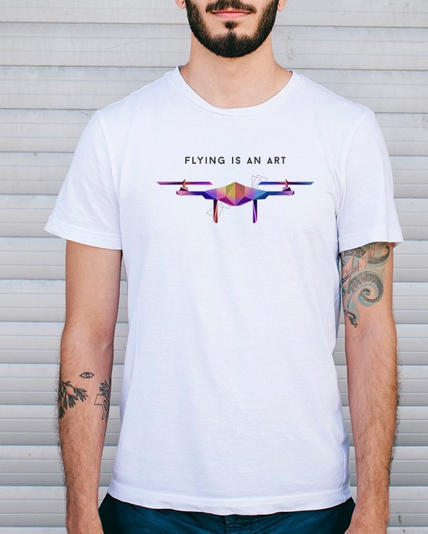 "Tee-shirt ""Flying is an art\"""