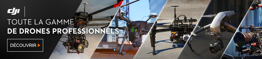 Toute la gamme de drones professionnels