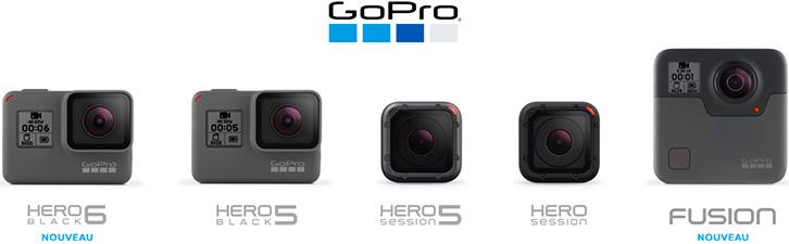 Toute la gamme GoPro
