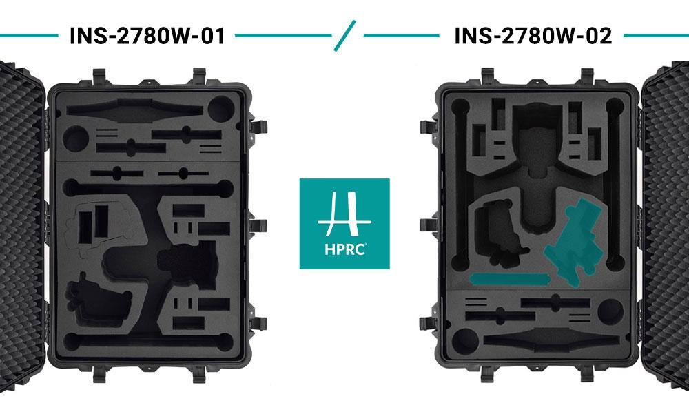 Valise 2780W double à roulettes pour DJI Inspire 2 - HPRC