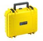 Valise B&W Type 1000 pour GoPro5 Black - Couleur jaune