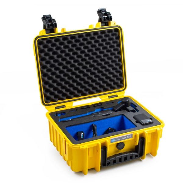 Valise B&W type 3000 GoPro Karma Grip noire avec ses accessoires
