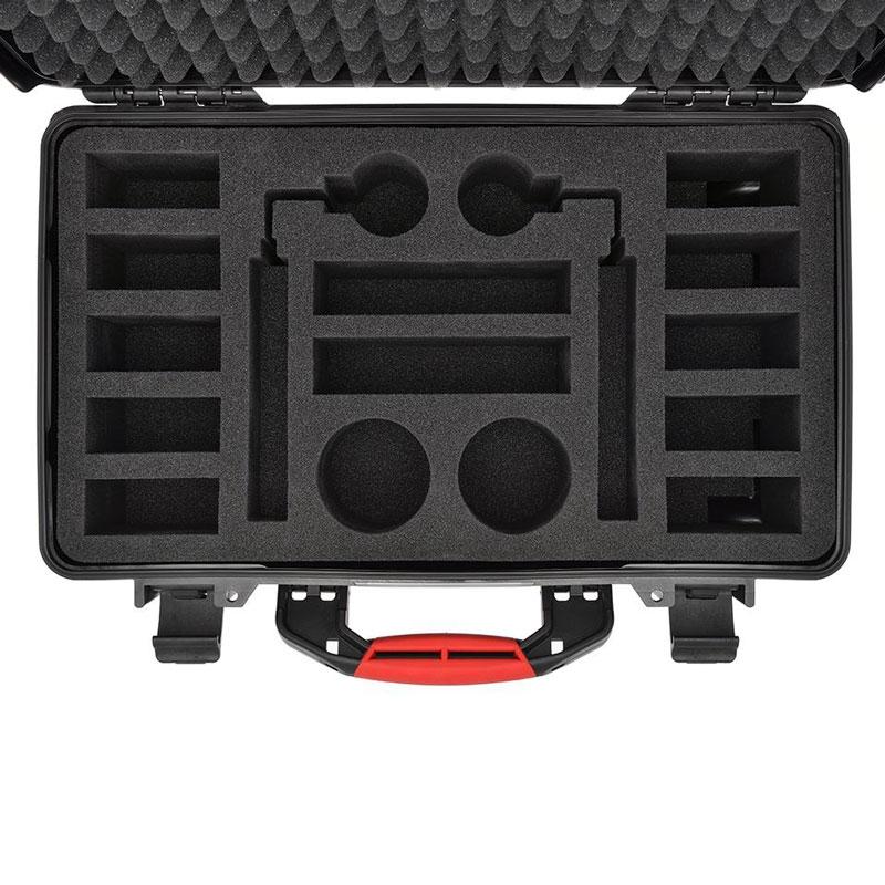 La valise HPRC permet de transporter jusqu'à 10 batteries TB50 pour DJI Inspire 2