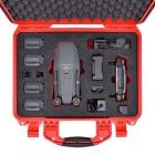 Le DJI Mavic Pro et tous ses accessoires rangés dans la valise HPRC 2400 de couleur rouge