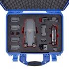 Le DJI Mavic Pro et tous ses accessoires rangés dans la valise HPRC 2400 de couleur bleue
